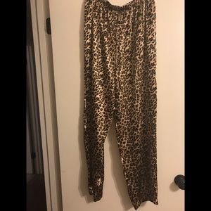 Other - Leopard silky pajama pants